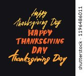 happy thanksgiving day. vector... | Shutterstock .eps vector #1196486011