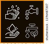set of 4 water outline icons... | Shutterstock .eps vector #1196487307