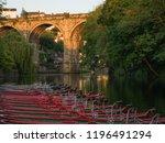 Knaresborough Viaduct And Boats