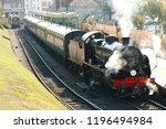 a working k class steam train... | Shutterstock . vector #1196494984