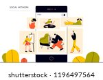 vector illustration  flat style ... | Shutterstock .eps vector #1196497564