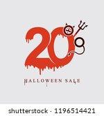 halloween sale. vector template ... | Shutterstock .eps vector #1196514421