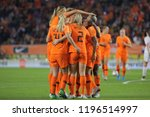 netherlands player celebrates... | Shutterstock . vector #1196514997