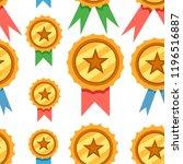 seamless pattern. set of golden ...   Shutterstock .eps vector #1196516887