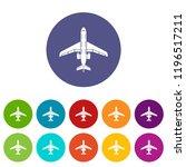 passenger plane icon. simple... | Shutterstock .eps vector #1196517211