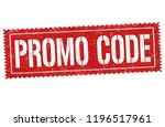 promo code sign or stamp on... | Shutterstock .eps vector #1196517961