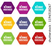 bionic prosthesis icons 9 set... | Shutterstock .eps vector #1196518267
