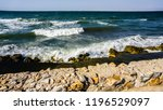 blue ocean or blue sea rocks.... | Shutterstock . vector #1196529097