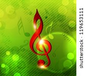 musical notes. can be use as... | Shutterstock .eps vector #119653111