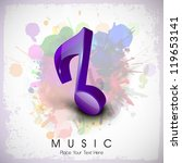 musical notes. can be use as... | Shutterstock .eps vector #119653141