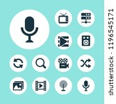 multimedia icons set with sync  ...   Shutterstock .eps vector #1196545171