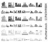 factory and facilities cartoon...   Shutterstock .eps vector #1196549884