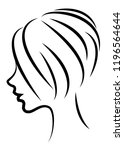 silhouette of the head of a... | Shutterstock .eps vector #1196564644