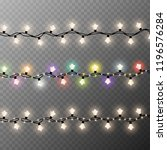 christmas lights isolated on...   Shutterstock .eps vector #1196576284