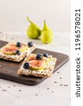 canape or crostini with... | Shutterstock . vector #1196578021