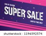 super sale banner template.... | Shutterstock .eps vector #1196592574