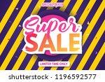 super sale banner template.... | Shutterstock .eps vector #1196592577