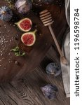 fresh figs. whole figs and... | Shutterstock . vector #1196598784