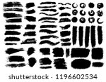 vector big set of hand drawn... | Shutterstock .eps vector #1196602534