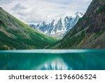 shine water in mountain lake in ... | Shutterstock . vector #1196606524