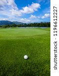 golf ball on course  beautiful... | Shutterstock . vector #1196612227
