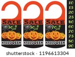 set of halloween sale tag  can... | Shutterstock .eps vector #1196613304