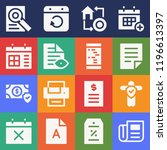 set of 16 paper filled icons...   Shutterstock .eps vector #1196613397