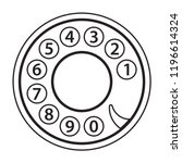 rotary phone dial  old... | Shutterstock .eps vector #1196614324