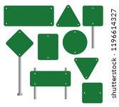 blank traffic road sign set ... | Shutterstock .eps vector #1196614327