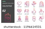 outline style icon pack for... | Shutterstock .eps vector #1196614531