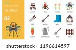 flat style icon pack for... | Shutterstock .eps vector #1196614597