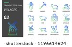 gradient style icon pack for... | Shutterstock .eps vector #1196614624
