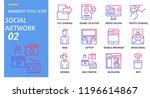 gradient style icon pack for... | Shutterstock .eps vector #1196614867
