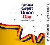 romania great union day vector...   Shutterstock .eps vector #1196615641