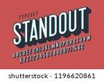 retro 3d display font design ... | Shutterstock .eps vector #1196620861