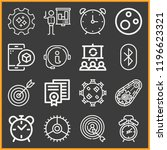 set of 16 circle outline icons...   Shutterstock .eps vector #1196623321