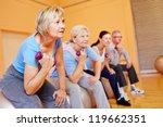 group of senior people doing... | Shutterstock . vector #119662351