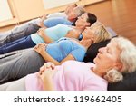 elderly group doing neditation... | Shutterstock . vector #119662405