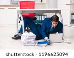tired exhausted businessman... | Shutterstock . vector #1196625094