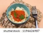 pasta dish with tomato sauce | Shutterstock . vector #1196626987