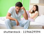 woman and man in the bedroom...   Shutterstock . vector #1196629594