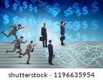 business concept of uncertainty ...   Shutterstock . vector #1196635954