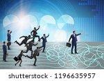 business people in uncertainty...   Shutterstock . vector #1196635957