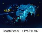 stock market or forex trading... | Shutterstock . vector #1196641507