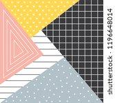 playful modern pattern design | Shutterstock .eps vector #1196648014