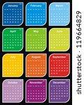 vector   calendar 2014 | Shutterstock .eps vector #119664829