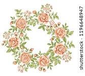 beautiful gentle vector wreath... | Shutterstock .eps vector #1196648947