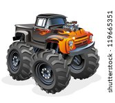 vector cartoon monster truck | Shutterstock .eps vector #119665351