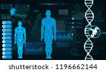 concept of sports science ... | Shutterstock .eps vector #1196662144