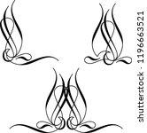 pinstripe design vinyl ready... | Shutterstock .eps vector #1196663521